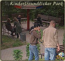 In der Parkanlage im Freizeitpark laden Spiel Spass und Unterhaltung zum Verweilen ein
