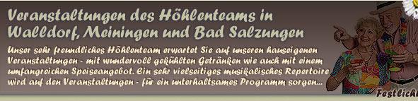 Veranstaltungen in Walldorf Meiningen und Bad Salzungen