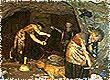 Unterirdischer Abbau in der Sandsteinhöhle